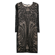 Buy Mango Embroidered Lace Dress, Black Online at johnlewis.com