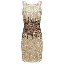 Buy Adrianna Papell Short Bead Dress, Champagne Online at johnlewis.com