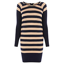 Buy Oasis Striped Jumper Dress, Multi Blue Online at johnlewis.com