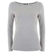 Buy Mint Velvet Sheer Layering Tee, Silver Grey Online at johnlewis.com
