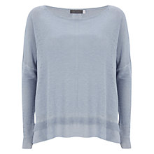 Buy Mint Velvet Overdye Boxy Knit Top, Blue Online at johnlewis.com