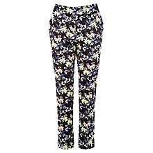 Buy Warehouse Wisteria Print Cotton Trousers, Multi Online at johnlewis.com