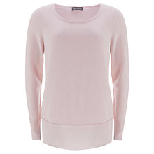 Buy Mint Velvet Shell Tie Back Jumper, Pale Pink Online at johnlewis.com