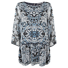 Buy Mint Velvet Jane Print Peplum Top, Multi Online at johnlewis.com