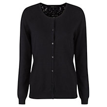 Buy Mango Blond Lace Back Cardigan, Black Online at johnlewis.com