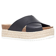 Buy Carvela Kool Flatform Sandals, Black Leather Online at johnlewis.com