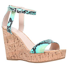 Buy Carvela Kling Wedged Sandals, Turquoise Online at johnlewis.com
