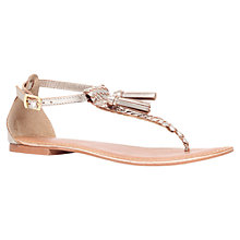 Buy Carvela Kettle Leather Sandals, Gold Online at johnlewis.com
