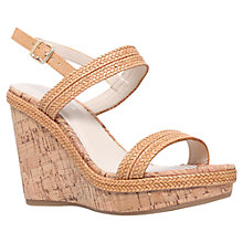 Buy Carvela Kay High Wedge Heeled Sandals, Tan Online at johnlewis.com