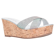 Buy Carvela Kable Platform Wedge Heeled Sandals, Silver Online at johnlewis.com