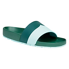 Buy Hunter Original Moustache Leather Slide Sandals, Green Online at johnlewis.com