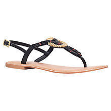 Buy Carvela Kouros Beaded Sandal, Black Online at johnlewis.com