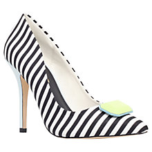 Buy Miss KG Aubrey Pointed Court Shoes, Black/White Online at johnlewis.com