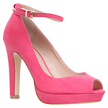 Buy Miss KG Anete Peep Toe Ankle Strap Court Shoes, Pink Online at johnlewis.com