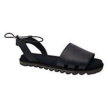 Buy Hunter Original Slide Leather Sandals, Black/Dark Online at johnlewis.com