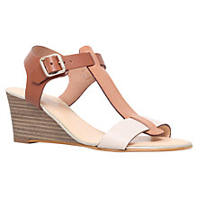 Buy Carvela Keeping Leather Wedges, Tan Online at johnlewis.com
