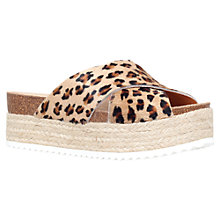 Buy Carvela Kool Flatform Sandals, Leopard Pony Online at johnlewis.com