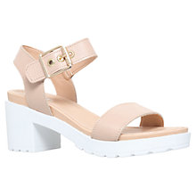 Buy Carvela Karina Leather Block Heeled Sandals Online at johnlewis.com