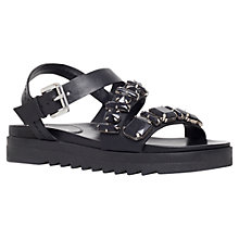 Buy Carvela Koral Cross Strap Embellished Sandals, Black Leather Online at johnlewis.com