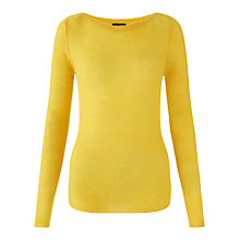 Buy Jigsaw Cashmere Sheer Knit Sweater, Yellow Online at johnlewis.com