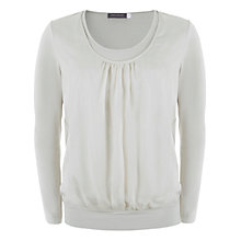 Buy Mint Velvet Double Front Top, Stone Online at johnlewis.com