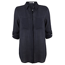 Buy Mint Velvet Slim Shirt, Navy Online at johnlewis.com