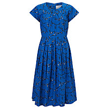 Buy Collection WEEKEND by John Lewis Flock Of Birds Dress, Bright Blue Online at johnlewis.com