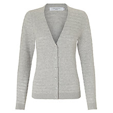 Buy John Lewis Thick And Thin V-Neck Cotton Cardigan Online at johnlewis.com