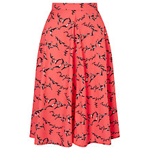 Buy Collection WEEKEND by John Lewis Flock Of Birds Skirt, Pink Online at johnlewis.com