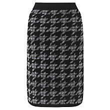 Buy Jigsaw Dogtooth Knit Skirt, Grey Online at johnlewis.com
