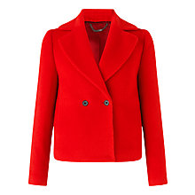 Buy Jigsaw Llama Cropped Jacket, Red Online at johnlewis.com