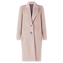 Buy Jigsaw Llama Long Coat, Stone Online at johnlewis.com