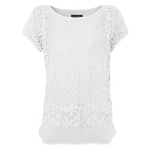 Buy Mint Velvet Lace Layered Top, Ivory Online at johnlewis.com