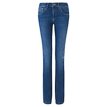Buy Jigsaw Windsor Straight Jeans, Washed Blue Online at johnlewis.com