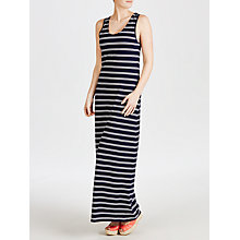 Buy John Lewis Jersey Striped Maxi Beach Dress, Navy / White Online at johnlewis.com