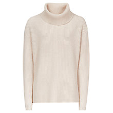 Buy Reiss Locke Roll Neck Jumper, Blush Online at johnlewis.com