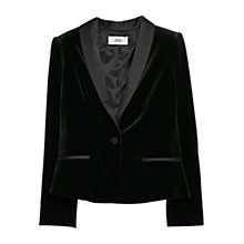 Buy Mango Velvet Blazer, Black Online at johnlewis.com