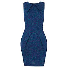 Buy Closet Flower Print Tie Back Dress, Teal Online at johnlewis.com