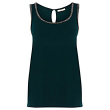 Buy Oasis Emily Vest, Deep Green Online at johnlewis.com