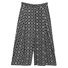 Buy Mango Printed Culottes, Black Online at johnlewis.com