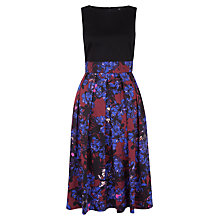 Buy Closet Jacquard Tie Midi Dress, Multi Online at johnlewis.com