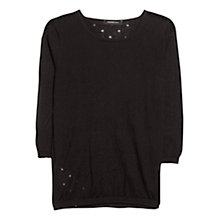 Buy Mango Polka Dot Sweater, Black Online at johnlewis.com