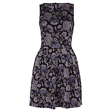 Buy Closet Jacquard Cut Out Back Dress, Metallic Online at johnlewis.com