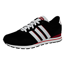 Buy Adidas Runeo V Jog Clip Trainers, Black/Red Online at johnlewis.com