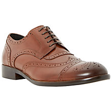 Buy Dune Rubeus Leather Brogues, Tan Online at johnlewis.com