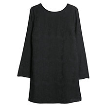 Buy Mango Animal Pattern Dress, Black Online at johnlewis.com