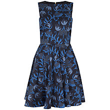 Buy Closet Naive Floral Skater Dress, Blue Online at johnlewis.com