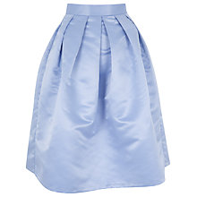 Buy Closet Pleat Waist Full Skirt, Pale Blue Online at johnlewis.com