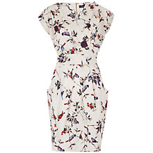 Buy Closet Print Crossover Dress, Cream Online at johnlewis.com