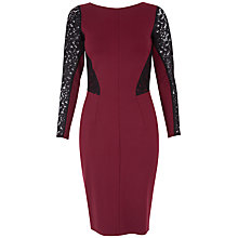 Buy Closet Cowl Waffle Dress, Burgundy Online at johnlewis.com